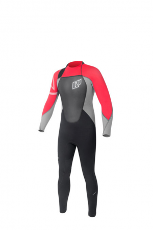 NP rise kids red wetsuit surfpak