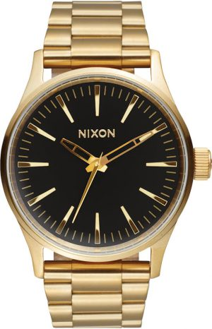 Nixon Sentry 38 SS Gold / Black Sunray