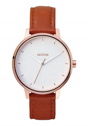 Nixon kensington Leather Rose Gold/ White